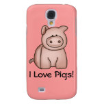I Love Pigs Galaxy S4 Cover