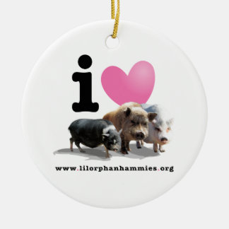 I LOVE PIGS Holiday Ornament