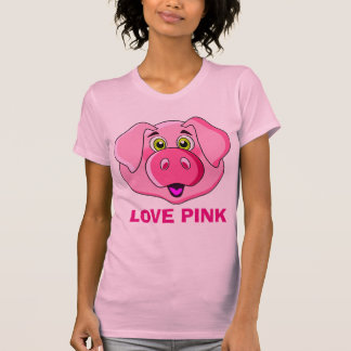 I love pigs,I love pink,funny and cute pink pig T-Shirt