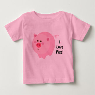 I Love Pigs Infant Shirt