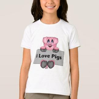 I Love Pigs Kids Shirt