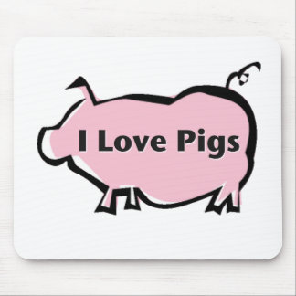 I Love Pigs Mouse Pad