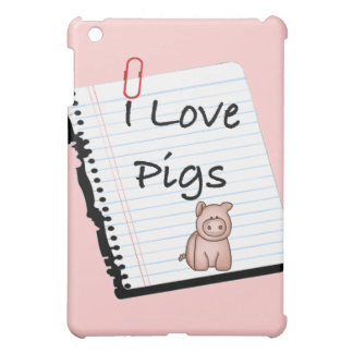 I Love Pigs (notebook page) iPad Mini Case