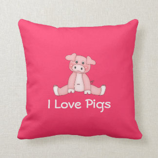 I Love Pigs Pillow