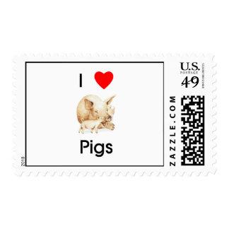 I love pigs Postage