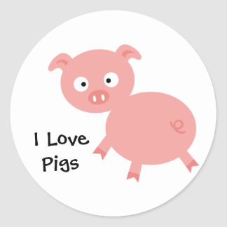 I Love Pigs Sticker