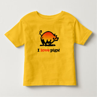 I love Pigs! Toddler T-shirt