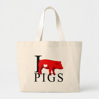 I Love Pigs Tote Bags