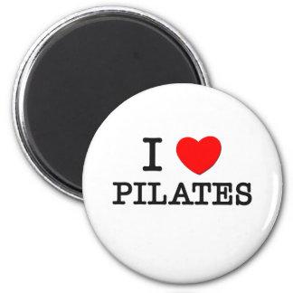 I Love Pilates 2 Inch Round Magnet