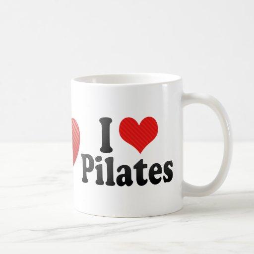 I Love Pilates Classic White Coffee Mug