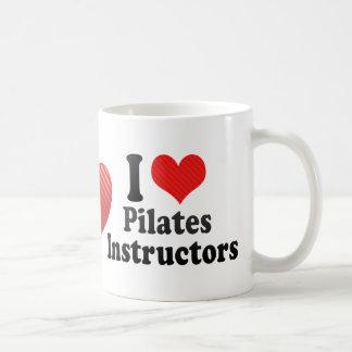 I Love Pilates Instructors Classic White Coffee Mug