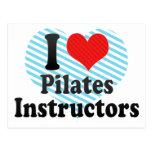 I Love Pilates Instructors Postcard