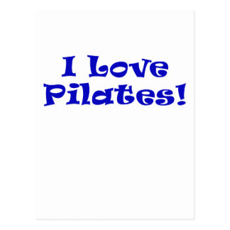 I Love Pilates Postcard