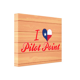 I Love Pilot Point, Texas Canvas Print