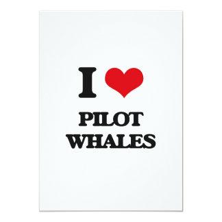 I love Pilot Whales 5x7 Paper Invitation Card