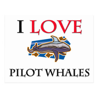 I Love Pilot Whales Post Cards