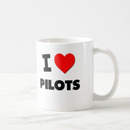 I Love Pilots Classic White Coffee Mug