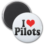 I Love Pilots Fridge Magnets