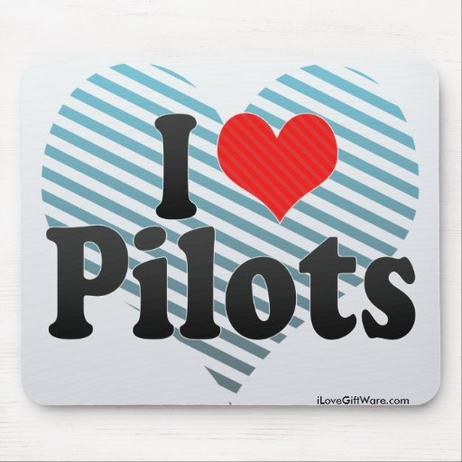 I Love Pilots Mouse Pad