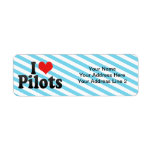I Love Pilots Return Address Label