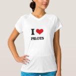 I Love Pilots T Shirts