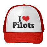 I Love Pilots Trucker Hat
