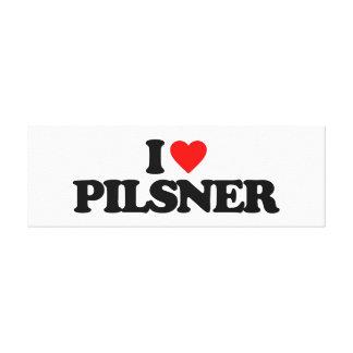 I LOVE PILSNER CANVAS PRINT