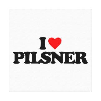I LOVE PILSNER GALLERY WRAP CANVAS
