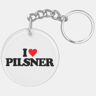 I LOVE PILSNER Double-Sided ROUND ACRYLIC KEYCHAIN