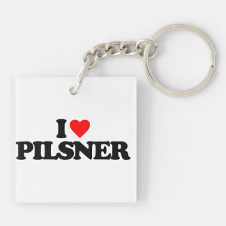 I LOVE PILSNER Double-Sided SQUARE ACRYLIC KEYCHAIN