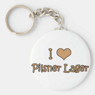 I Love Pilsner Lager Basic Round Button Keychain