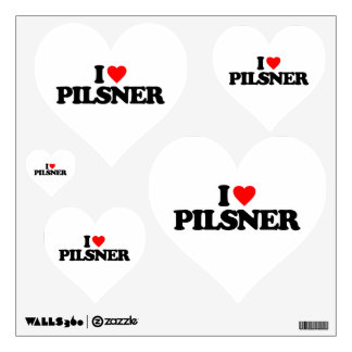 I LOVE PILSNER ROOM DECALS
