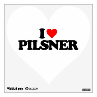 I LOVE PILSNER WALL STICKERS