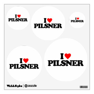 I LOVE PILSNER WALL DECAL