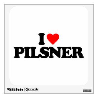 I LOVE PILSNER WALL STICKER