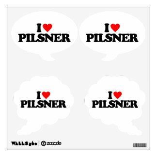 I LOVE PILSNER ROOM STICKER