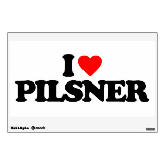 I LOVE PILSNER WALL DECALS