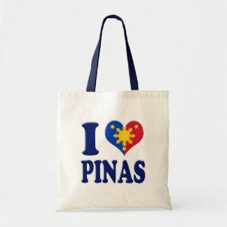 I Love Pinas Tote Bags