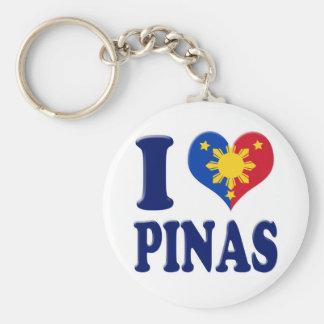 I Love Pinas Basic Round Button Keychain