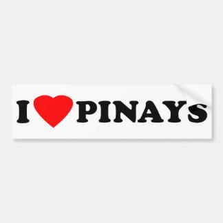 I Love Pinays Bumper Stickers
