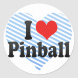 I Love Pinball Classic Round Sticker