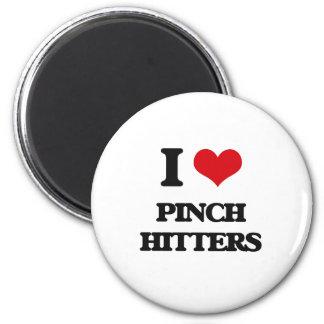 I Love Pinch Hitters 2 Inch Round Magnet