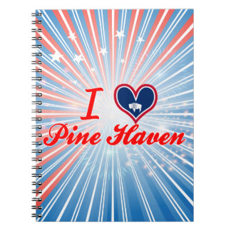 I Love Pine Haven, Wyoming Spiral Note Book