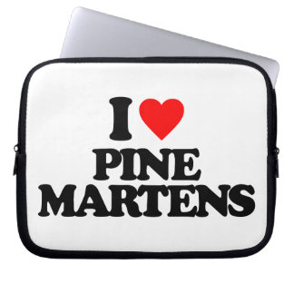I LOVE PINE MARTENS LAPTOP COMPUTER SLEEVES
