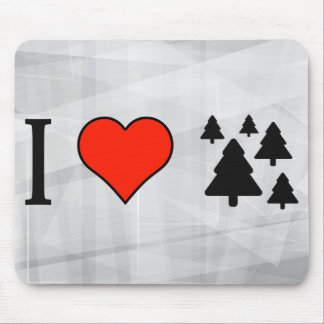 I Love Pine Tree Mouse Pad