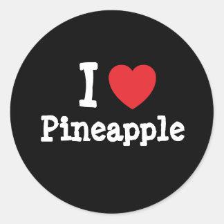I love Pineapple heart T-Shirt Sticker