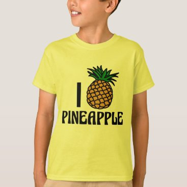 Valentines Themed I Love Pineapple T-Shirt