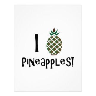 I Love Pineapples Custom Letterhead