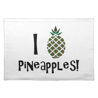 I Love Pineapples Placemats