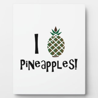 I Love Pineapples Display Plaque